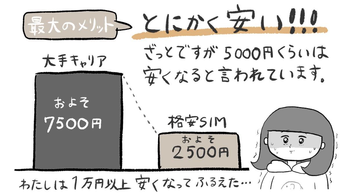 格安SIM メリット 図解
